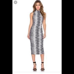 NWT Elizabeth & James Python Boa Dress—NWT